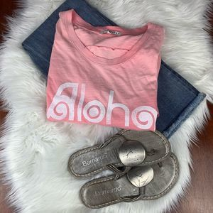 Junk Food Clothing NWT Distressed Aloha Tank Large